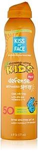 Kiss My Face Signature Sun Bundles - Kids Defense Sunscreen SPF 50 Sunblock, 6 Ounce & Hot Spots Sunscreen SPF30 Sunblock .50 Ounce