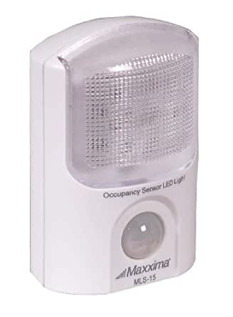 Maxxima Battery Powered LED Occupancy Sensor Motion Activated Light With 6 LEDs