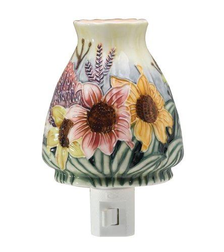 RUSS Berrie 4-Inch Sunflower Porcelain Night Light