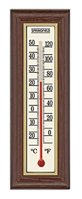 Springfield Wood Grain Indoor Thermometer from Taylor Thermometers