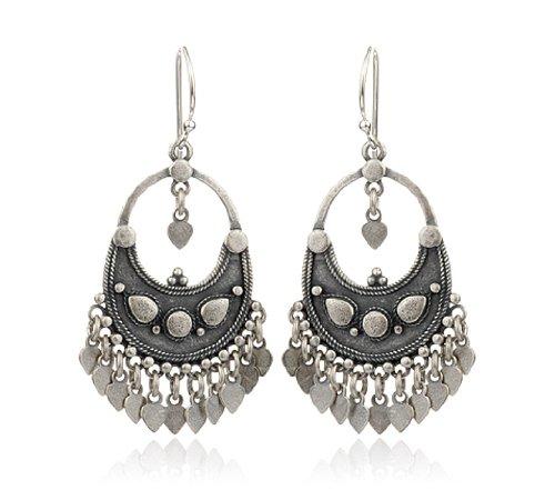 Satya Jewelry Silver Flower Petal Chandelier Earring