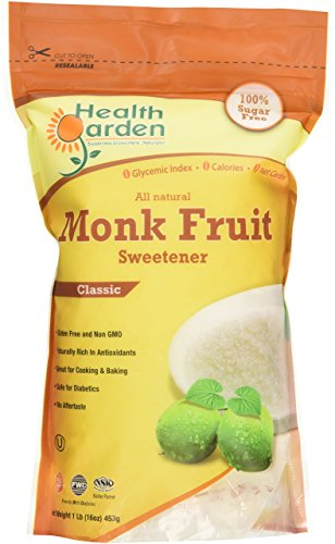 Health Garden Kosher Monk Fruit Sweetener, 16 oz, Classic