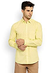 Colorplus Men's Casual Shirt (8907397533413_CMSS25902-Y3_X-Large_Medium Yellow)