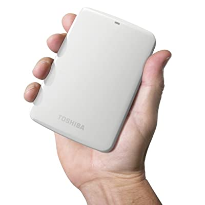 Toshiba Canvio Connect 2TB Portable Hard Drive White (HDTC720XW3C1)