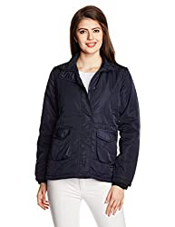People Women's Parka Casual Jacket (P20402115248239_Blue_L )