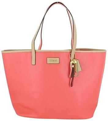 Coach Park Metro Women's Tote Leather Handbag Pink