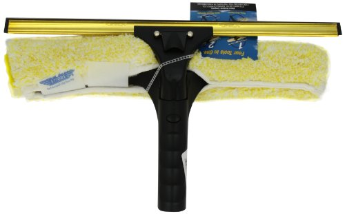 Ettore 71140 Professional Brass Backflip Window Cleaning Combo Tool, 14-Inch