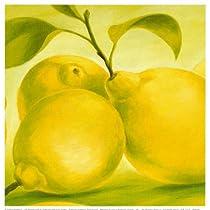 Lemon Art Poster Print by Susanne Bach, 8x8