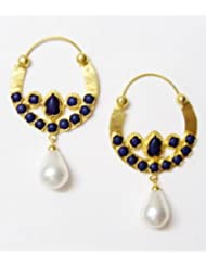 E-designs Rhodium / Gold Plated Earring With CZ Stone Alongwith Colour Stones Studded For Women - B00HSI721W
