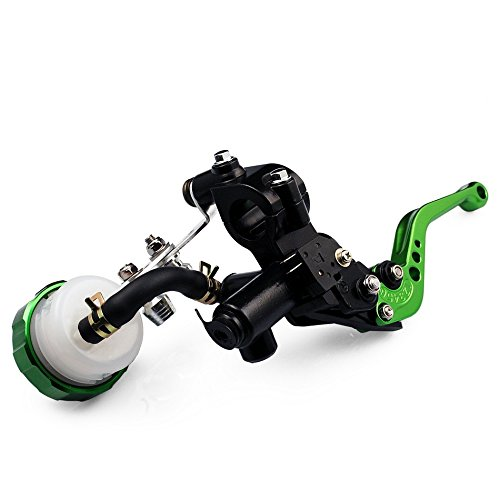 Motorcycle Racing CNC Adjustable Brake Master Cylinder Fluid Reservoir Levers Kit Green 7/8(22mm) For 2010- Buell XB12Sx(8-Kolben)