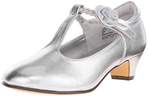 Jumping Jacks Kate T-Strap Dress Shoe (Little Kid/Big Kid), Silver/Metallic, 13 M US Little Kid (Jack And Jane Shoes compare prices)
