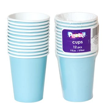 Party Color Paper Cups Light Blue 9oz 24 Count (Light Blue Party Cups compare prices)