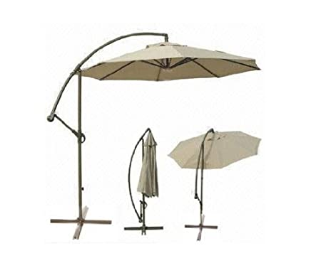 Deluxe Round Adjustable Cantilever Patio Market Umbrella