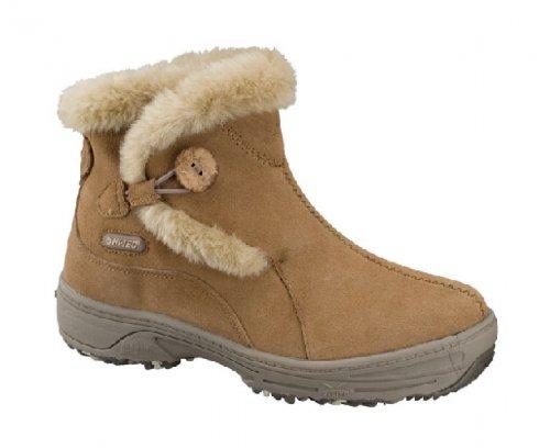 HI-TEC Ladies V-Lite Snowflake Pull On Winter Boots, Brown, UK8