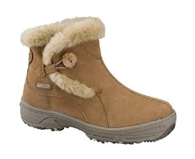 HI-TEC Ladies V-Lite Snowflake Pull On Winter Boots, Brown, UK4
