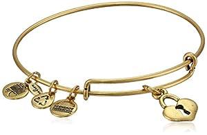 Alex and Ani Womens Key To My Heart Charm Bangle Rafaelian Gold Finish One Size