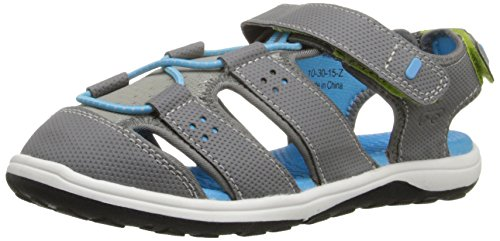 See Kai Run Kenai Closed Toe Sandal (Toddler/Little Kid), Gray, 13.5 M US Little Kid