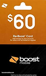 Boost Mobile $60 Gift Card