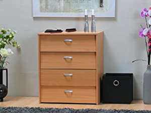 schuhschrank escape 4 schubladen schubladenkommode kommode buche neu k che haushalt. Black Bedroom Furniture Sets. Home Design Ideas