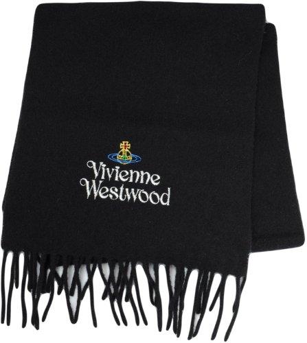 (ヴィヴィアンウエストウッド)Vivienne Westwood マフラー マルチオーヴ&シルバーロゴ 並行輸入品 AW13-SL5/FM7 colo-12 ブラック Free