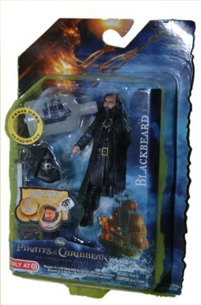 "Pirates of Carribean Magic Reveal- Blackbeard 4"" Figure - 1"