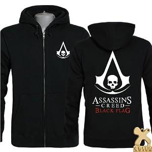assassins creed 4 hoodie black flag edward kenway cosplay. Black Bedroom Furniture Sets. Home Design Ideas