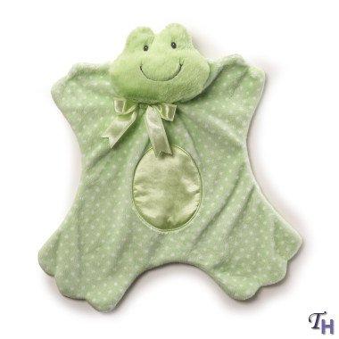 """Gund Baby Satineesnug, Dottersworth Frog, 13"""" front-600610"""