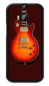 "Humor Gang Hanging Electric Guitar Orange Printed Designer Mobile Back Cover For ""HTC ONE M8 - HTC ONE M8S"" (3D, Glossy, Premium Quality Snap On Case)"