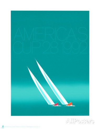 Custom Posters 20X30 Inch Duel (92-blue Americas Cup) Prints by Keith Reynolds