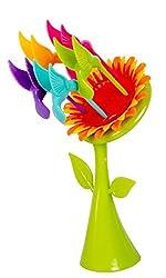 Colourful Sunflower Fruit Fork Set