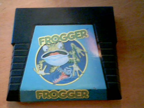 "1983 Parker Brothers ""Frogger"" Video Game Cartridge for Atari 5200 (Trademarks Designates a Trademark of Sega Enterprises, Inc. Frogger Game Graphics)(copyright 1982, 1983 Sega Enterprsies, Inc. Program Content and Laabel Design)(copyright 1982, 1983 Parker Brothers, Beverly, Ma 01915) - 1"
