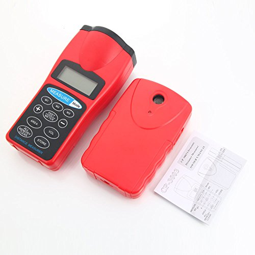 Handheld Digital Lcd Double Unit Ultrasonic Sonic Distance Meter Measurer Measuring Device Tool With Laser Pointer