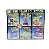 6-In-1 Family Games Collection BINGO, CONNECT FOUR, GUESS WHO, SNAKES & LADDERS, BATTLESHIPS & DON'T LET IT DROP