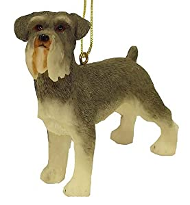 "4"" Miniature Schnauzer Dog Christmas Ornament"