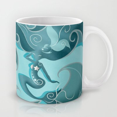 Society6 - Blue Mermaid Mug By Loujah