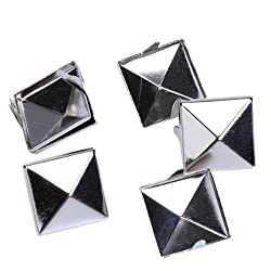 Approx. 100pcs 2 Prongs Pyramid Studs 12mm Silver--Great for Any Leathercraft Project, Like Velts, Handbags, Bracelets, Jackets, or Any Type of Apparel Item from 4sold ltd