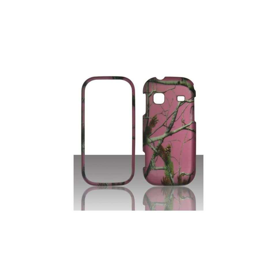 2D Pink Camo Pine Samsung Gravity TXT T379 T Mobile Case Cover Hard Phone Case Snap on Cover Rubberized Touch Protector Faceplates