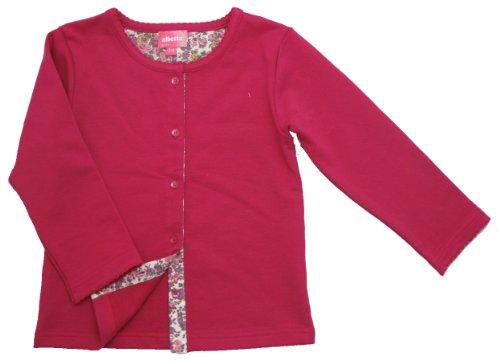 albetta アルベッタ/Fushia jersey cardigan フューシャーカーディガン/6-12m(80cm)/コットン100%/CCC56801/97