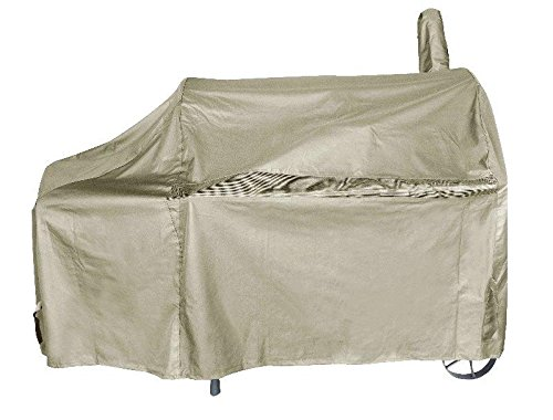 iCOVER 60 Inch Heavy-Duty Premium classic outdoor BBQ Barbecue Off-Set Khaki Smoker Cover G22608 for weber char-broil Brinkmann Nexgrill (Charbroil Side Smoker compare prices)