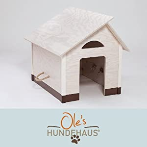 hundeh tte hundehaus innen indoor dach kalk wei sockel rohrkolben braun gr e s. Black Bedroom Furniture Sets. Home Design Ideas