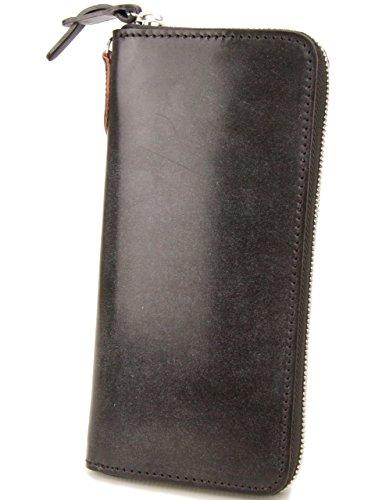 [コルボ] CORBO. 長財布 1LD-0223 アコーディオン型 ラウンドファスナー フェイス ブライドルレザー face Bridle Leather ダークブラウン CO-1LD-0223-93