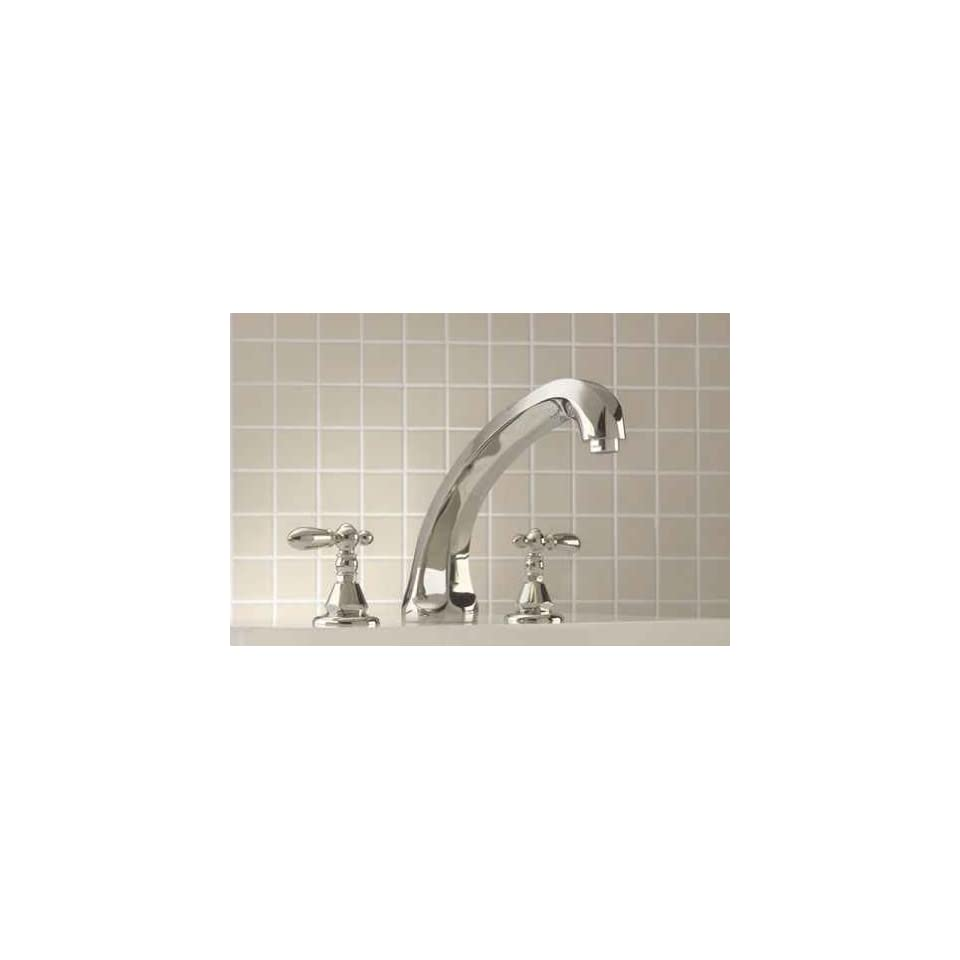 Mico 1255 L4 CP Grand Dame Polished Chrome Roman Tub Faucet with Handshower Cross