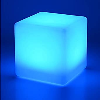 Colour Changing 40cm LED Cube Stool