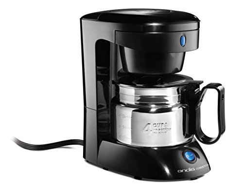 Andis 4-Cup Coffeemaker with Auto Shut-Off, Black (69045)