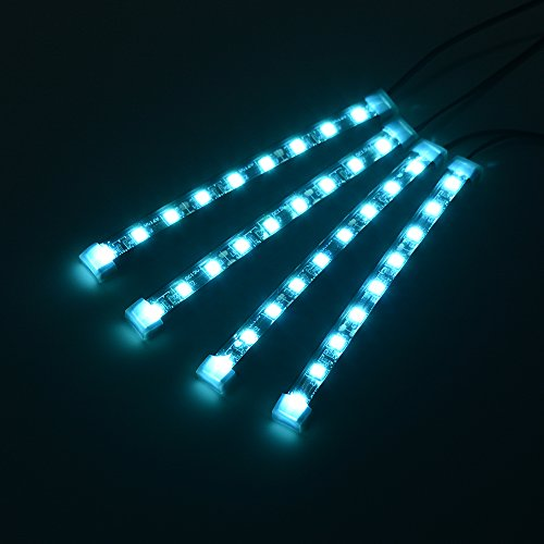 car interior floor dashboard led decoration light mood lamp strip lamp 12v 4pcs set 9led ice. Black Bedroom Furniture Sets. Home Design Ideas