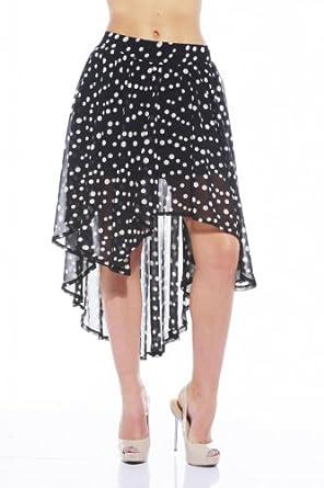 AX Paris - Chiffon Spot Drop Back Skirt - size 14