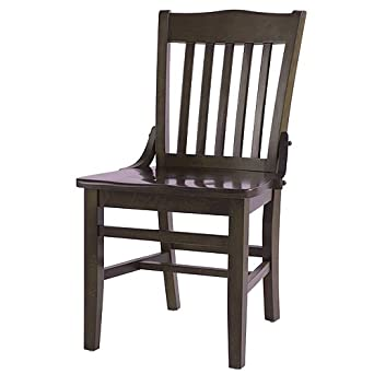 Oak Street CW 554 WA School House Solid Wood Dining Chair With Bl