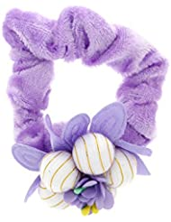Anuradha Art Violet Colour Stylish Floral Design Hair Accessories Hair Band Stylish Rubber Band For Women/Girls