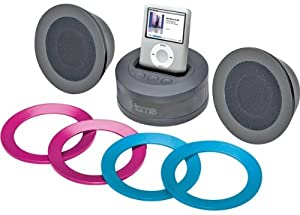 iHome iH64 Multimedia Stereo Speakers wth Dock for iPod (Black)