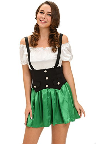 [FARYSAYS Women's Two-piece Beer Girl Halloween Costume] (Cute Conservative Halloween Costumes)